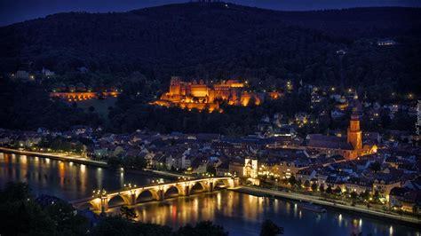 panorama heidelberg niemcy noc