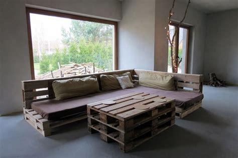 plan canapé en palette idées de meubles et décorations en palettes de bois