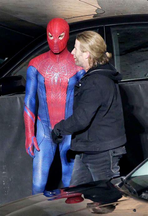 set  spider man filming fighting scene