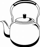 Kettle Clipart Tea Pages Kettles Clip Cliparts Clipground Pot Teapot Coloring Sketch Library Steam Template Stove sketch template