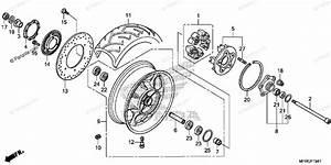 Honda Motorcycle 2016 Oem Parts Diagram For Rear Wheel 2