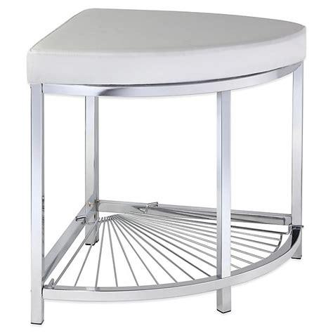 taymor urban modern corner vanity stool  chrome bed