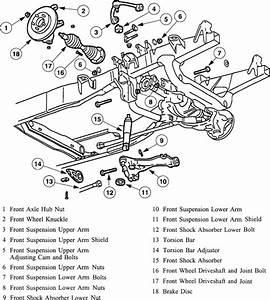 1999 Ranger Front Suspension Diagram