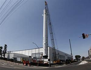 SpaceX puts historic flown rocket on permanent display ...