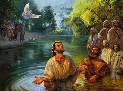 Jesus Baptism Paintings Gospel Normal Sower Psalm