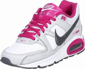 nike air max command youth gs shoes white pink