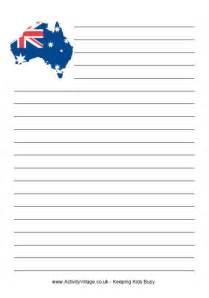 Australia Writing Paper