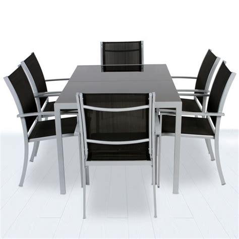 table et chaises de jardin pas cher table et 6 chaises de jardin en aluminium pas cher 423