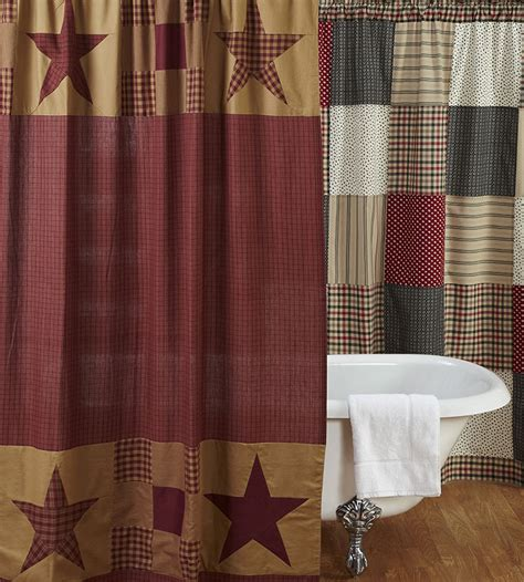 ninepatch star shower curtain  vhc brands  weed patch