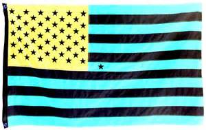 American Flag Optical Illusion