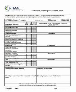 Sample Training Evaluation Form in Doc 10 Examples in Word