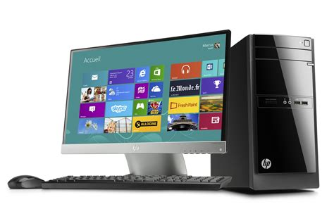 cora ordinateur de bureau pc de bureau hp 110 320nfm 4021169 darty