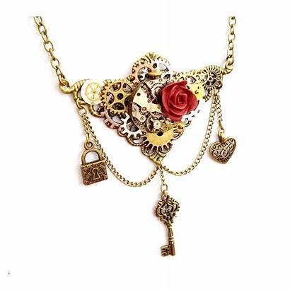 Steampunk Key Lock Jewellery Necklace Eliza Rose