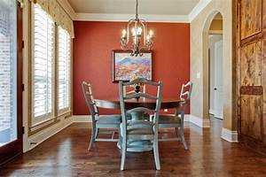 dining room with red accent wall the interior design With red dining room color ideas