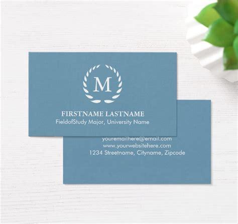 elegant  modern student business card