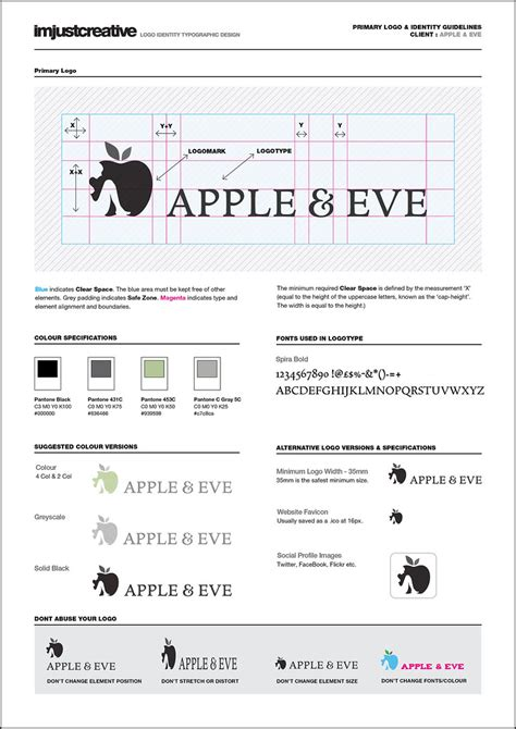 identity guidelines  apple eve logo design