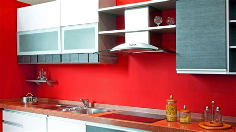 decoracion de cocinas en color rojo llamativa