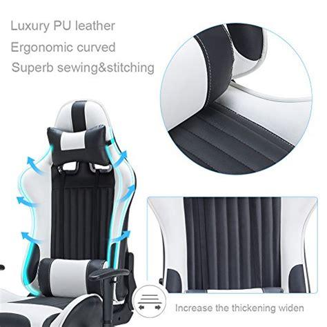 support lombaire bureau iwmh racing chaise de bureau siège gaming de luxe fauteuil