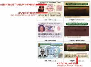Permanent Resident Alien Card Number