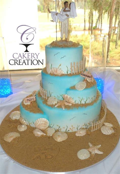 amazing beach wedding cake  cakery creation  daytona