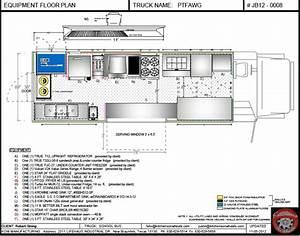 CAD equipment floor plan - Food Trucks For Sale | Used ...