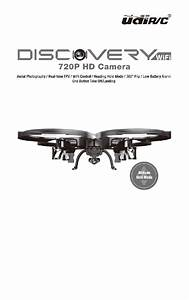Udirc Discovery Wifi Drones Operation Manual Pdf View  Download