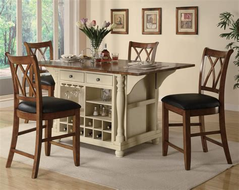 bar height kitchen table with storage counter height kitchen tables for special dining room