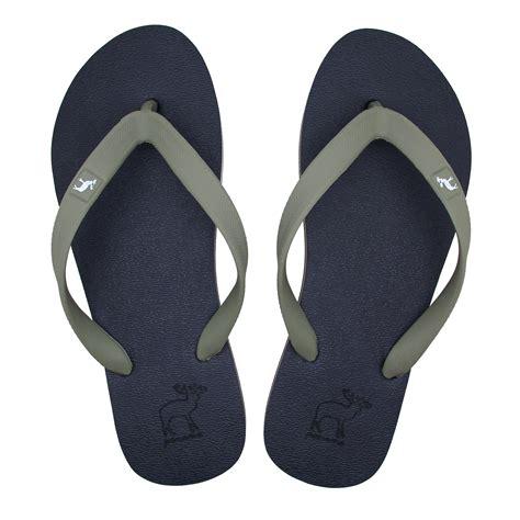 Sepatu Sandal Pantai Pria sandal panama sendal jepit pria biru abu sandal pantai