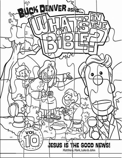 Coloring Puzzles Pages Jesus Puzzle Bible Volume