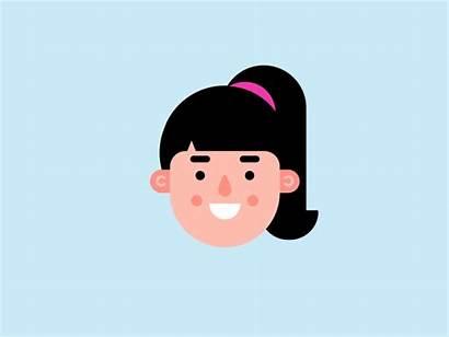 Avatar Female Dribbble Flat Character Avatars Illustrated