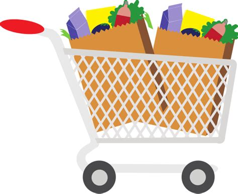 Shopping Cart Clipart File Shopping Cart With Food Clip Svg Wikimedia Commons