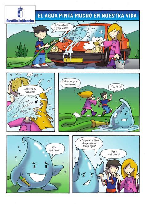 Comic Cuidado Del Medio Ambiente El Agua Pinta Mucho En