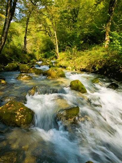 Nature Gifs River Water Animated Mountain Running