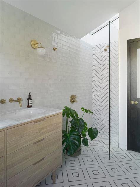 small modern walk  shower modern bathroom