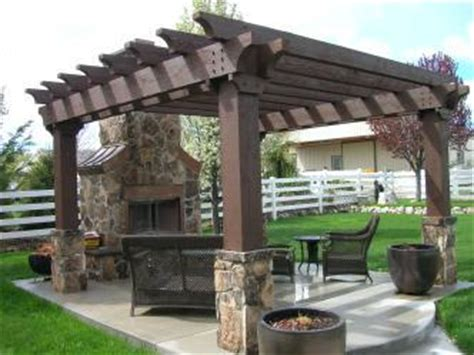outdoor pergola  fireplace pictures