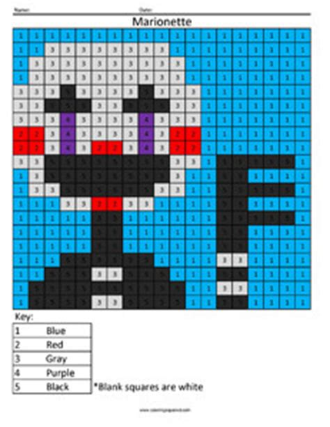 marionette color  number coloring squared
