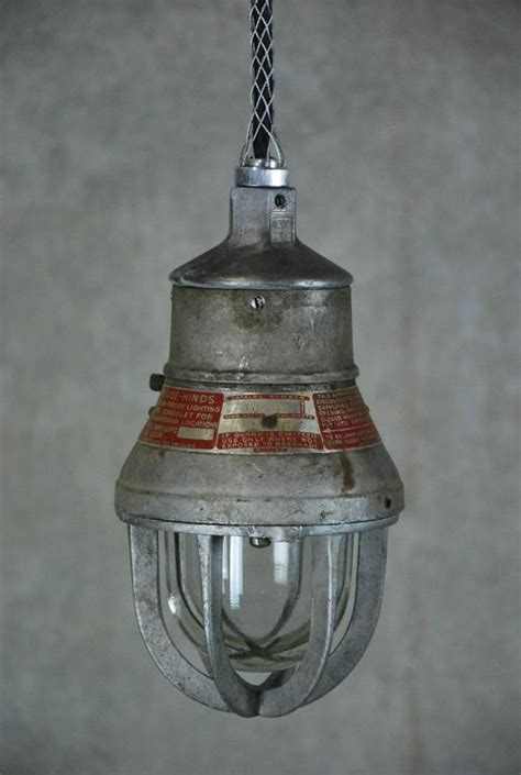 crouse hinds lighting 1930 small industrial crouse hinds pendant light at
