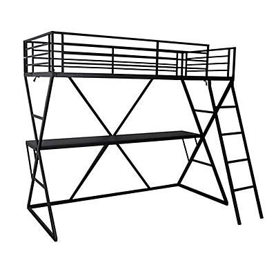 lit mezzanine avec bureau int r lit 1 place lits adulte enfant 1 place lit 90x200