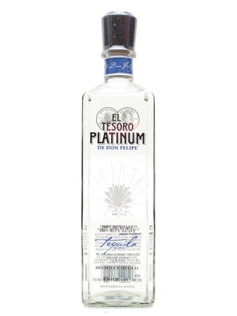 el tesoro platinum tequila  whisky exchange