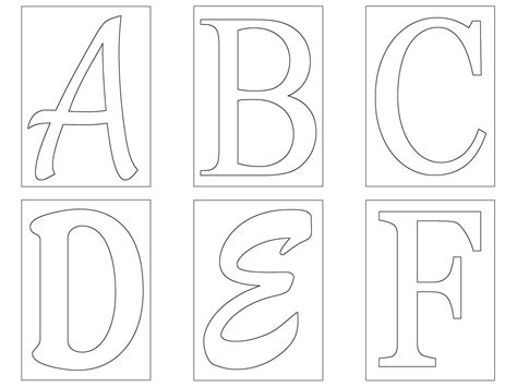 letters templates cut   images alphabet stencils