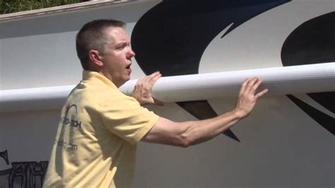awning pro tech rv awning covers product  installation information youtube