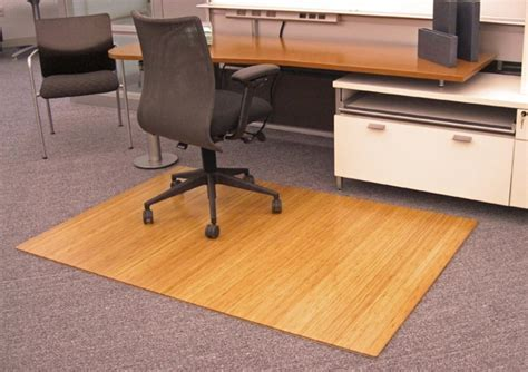 Bamboo Roll Up Chair Mats are Bamboo Office/Desk Mats by