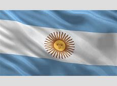 Waving Argentina Flag, Ready For Seamless Loop Stock