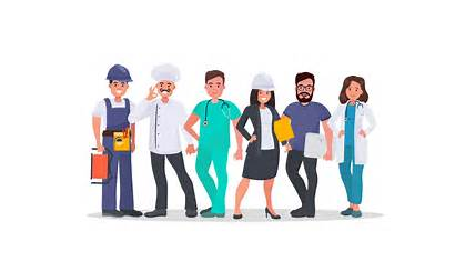 Jobs Different Occupations Middle Skill Vector Shutterstock