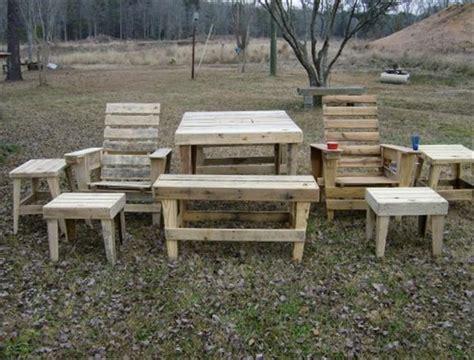diy pallet outdoor furniture pieces pallets designs