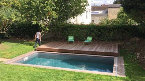 mobile terrasse pool terrasse mobile de piscine un rolling deck 174 de plus de 6m de porteafaux en ile de