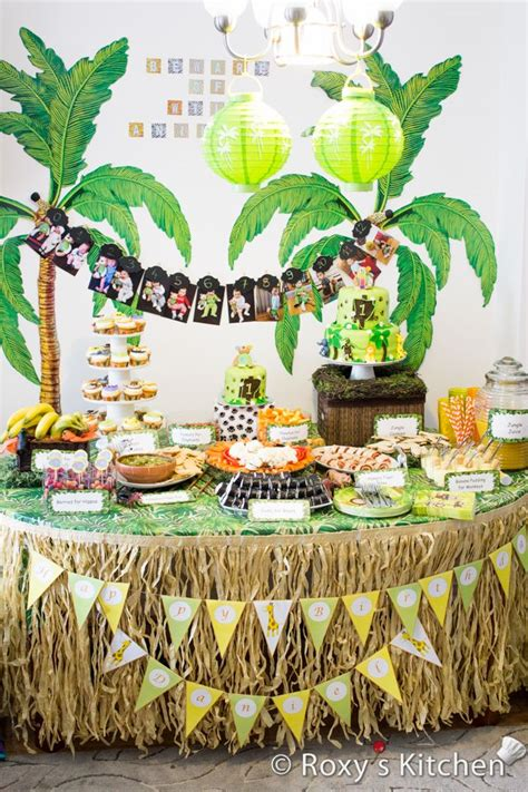 safari jungle themed  birthday party st birthday