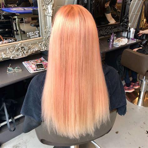 London Hairdressers Peach Hair Colour Trend Live True