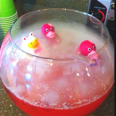 Pink Punch For Baby Shower - pink punch for baby shower with and rubber duckies