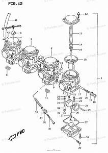 Suzuki Motorcycle 1998 Oem Parts Diagram For Carburetor